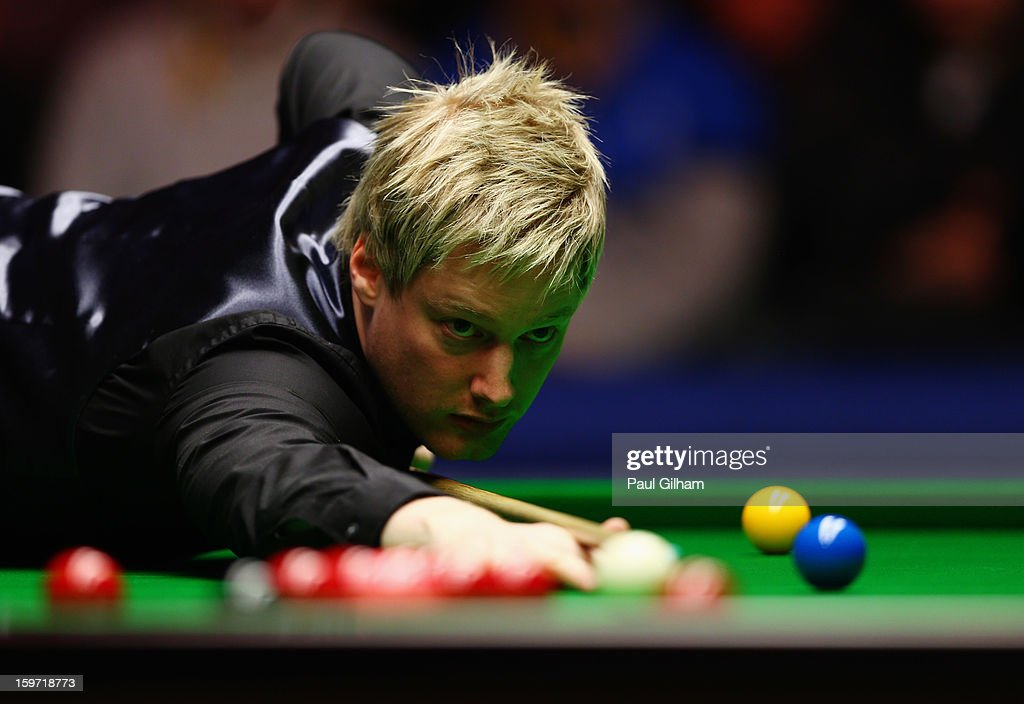 <a gi-track='captionPersonalityLinkClicked' href=/galleries/search?phrase=Neil+Robertson&family=editorial&specificpeople=668815 ng-click='$event.stopPropagation()'>Neil Robertson</a> of Australia in action during the semi-final match between <a gi-track='captionPersonalityLinkClicked' href=/galleries/search?phrase=Neil+Robertson&family=editorial&specificpeople=668815 ng-click='$event.stopPropagation()'>Neil Robertson</a> of Australia and Shaun Murphy of England at Alexandra Palace on January 19, 2013 in London, England.