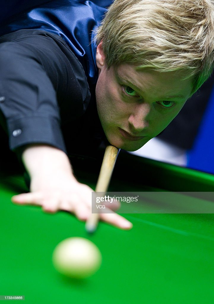 Neil Robertson of Australia plays a shot during the quarter-final match against Joe Perry of England on day four of the World Snooker Australia Open at the Bendigo Stadium on July 12, 2013 in Bendigo, Australia.