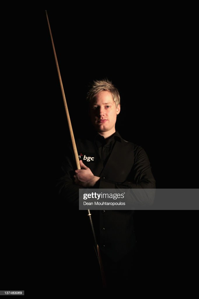 Neil Robertson of Australia poses after victory in his Semi Final match with Judd Trump of England during day 7 of The Masters at Alexandra Palace on January 21, 2012 in London, England.
