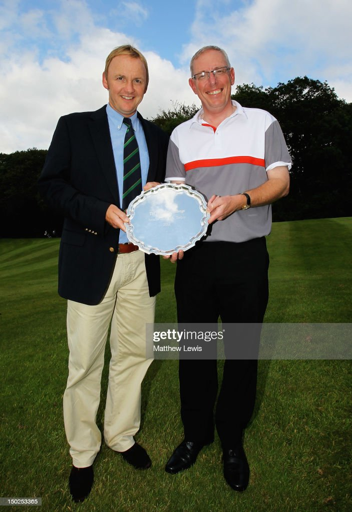 Neil Rowlands and John Taylor of Broadstone Golf Club pictured after winning the Lombard Challenge Regional Qualifier at Woodbury Park Golf Club on August 13, 2012 in Exeter, England.