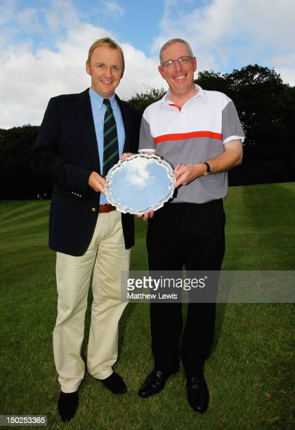 Neil Rowlands and John Taylor of Broadstone Golf Club pictured after winning the Lombard Challenge Regional Qualifier at Woodbury Park Golf Club on...