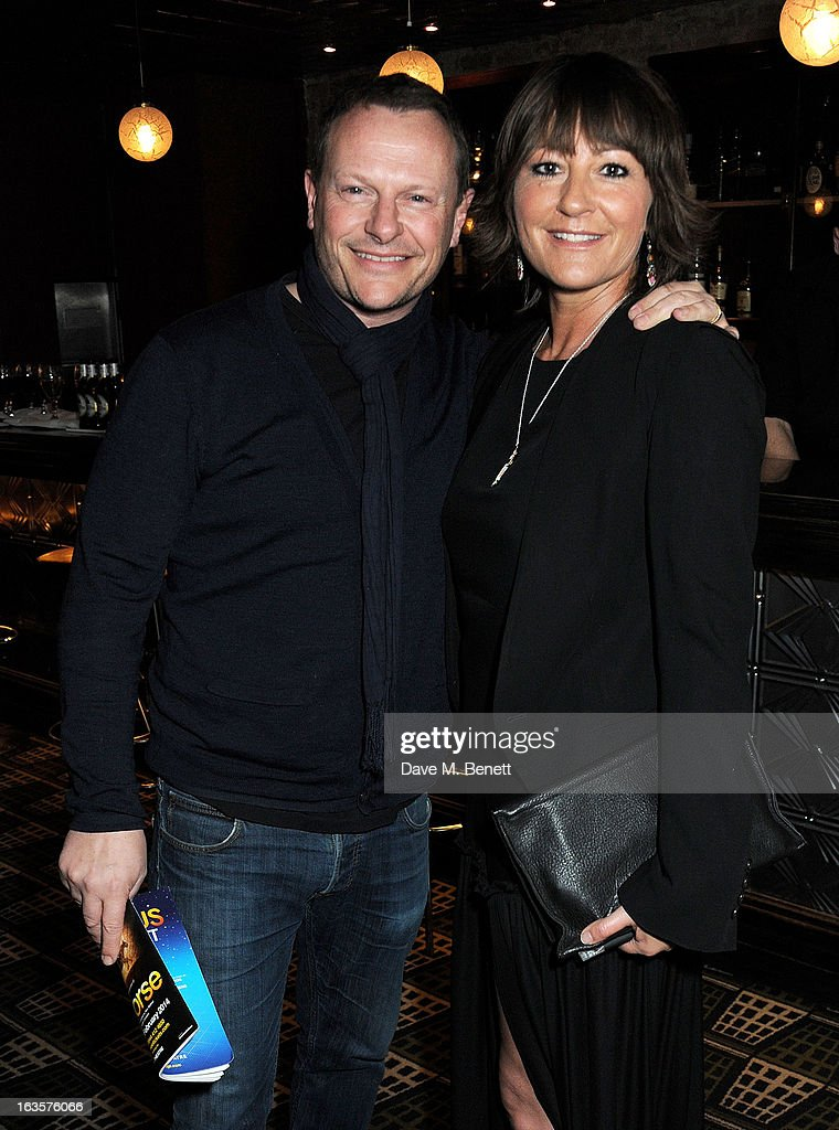 Neil Stuke (L) and Holly Aird attend an after party celebrating the press night performance of 'The Curious Incident of the Dog in the Night-Time' at Century on March 12, 2013 in London, England.