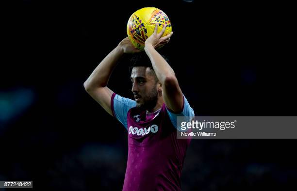 Neil Taylor of Aston Villa during the Sky Bet Championship match between Aston Villa and Sunderland at Villa Park on November 20 2017 in Birmingham...