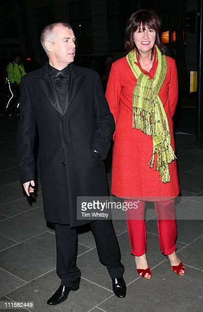 Neil Tennant and Janet Street Porter during National Portrait Gallery 150th Anniversary Gala at National Portrait Gallery in London Great Britain