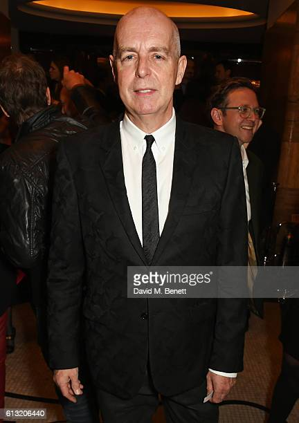 Neil Tennant attends the Frieze Magazine 25th anniversary dinner at Brasserie Zedel on October 7 2016 in London England