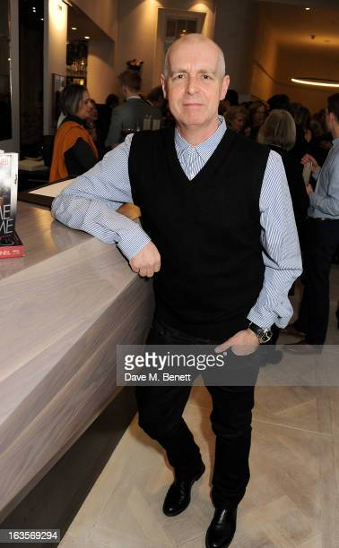 Neil Tennant attends the launch of Louise Fennell's new book 'Fame Game' at Grace Belgravia on March 12 2013 in London England