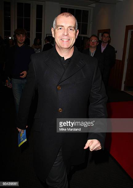 Neil Tennant attends the London Premiere hosted by Quintessentially of 'Nowhere Boy' at BAFTA on November 26 2009 in London England