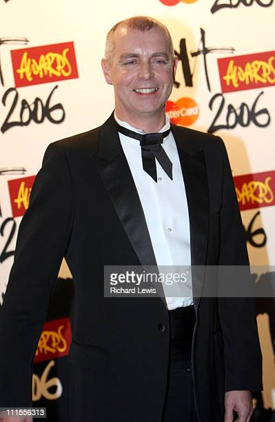 Neil Tennant during The Brit Awards 2006 with MasterCard Press Room at Earls Court in London Great Britain
