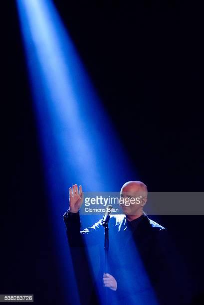 Neil Tennant of Pet Shop Boys attends the TV Show 'Mensch Gottschalk Das bewegt Deutschland' on June 5 2016 in Berlin Germany