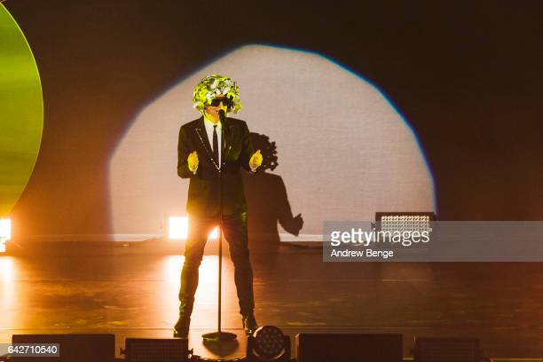 Neil Tennant of Pet Shop Boys performs at the First Direct Arena on February 18 2017 in Leeds United Kingdom