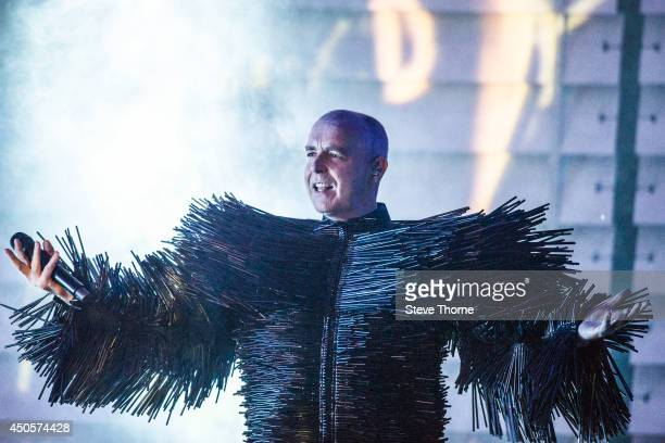 Neil Tennant of Pet Shop Boys performs on stage at LG Arena on June 13 2014 in Birmingham United Kingdom
