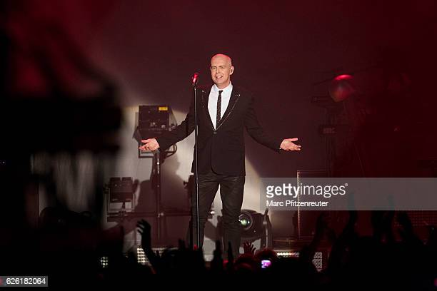 Neil Tennant of Pet Shop Boys performs onstage during the Super WorldTour at the Palladium on November 27 2016 in Cologne Germany