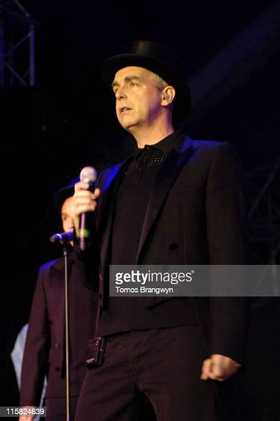 Neil Tennant of The Pet Shop Boys during Pet Shop Boys performing at HM Tower of London Festival of Music at Tower Of London in London Great Britain
