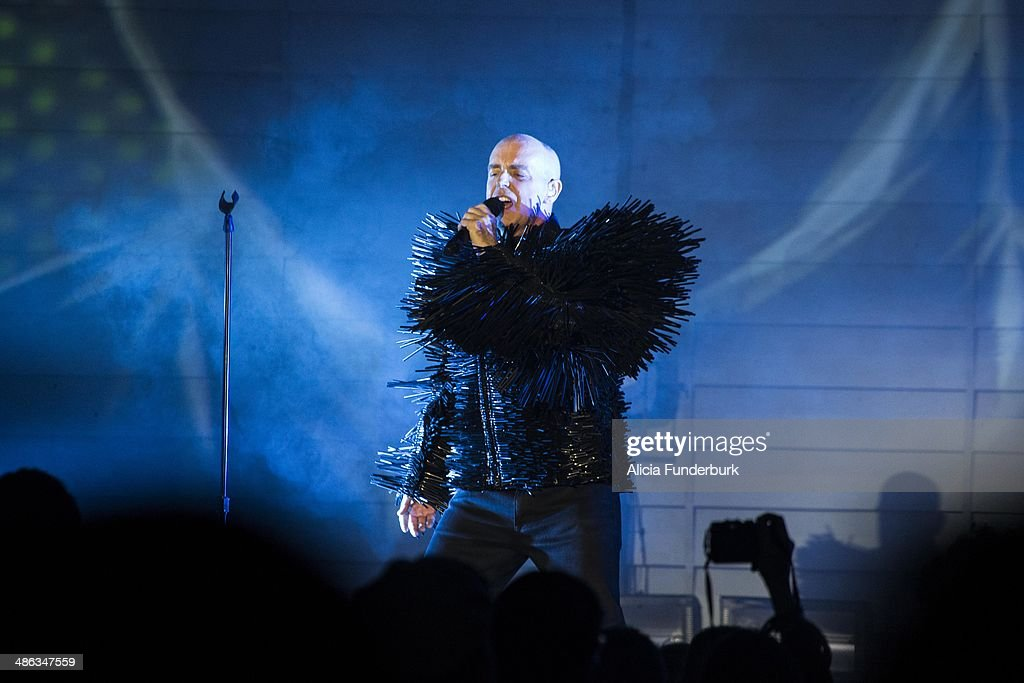 <a gi-track='captionPersonalityLinkClicked' href=/galleries/search?phrase=Neil+Tennant&family=editorial&specificpeople=213865 ng-click='$event.stopPropagation()'>Neil Tennant</a> of The <a gi-track='captionPersonalityLinkClicked' href=/galleries/search?phrase=Pet+Shop+Boys&family=editorial&specificpeople=559493 ng-click='$event.stopPropagation()'>Pet Shop Boys</a> performs during Moogfest 2014 on April 23, 2014 in Asheville, North Carolina.