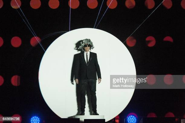 Neil Tennant of the Pet Shop Boys performs on stage at BIC on February 26 2017 in Bournemouth England