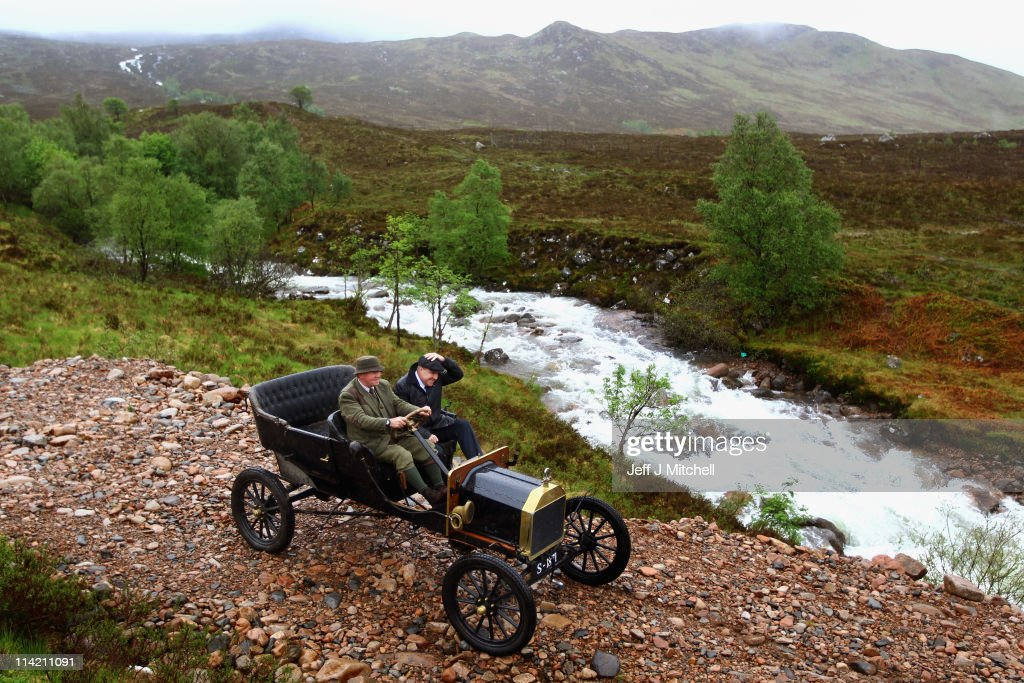 Neil Tuckett and Jamie Davidson begin their attempt to drive a 1911 Model T Ford & Model T Ford Replica Is Taken Up Ben Nevis Photos and Images ... markmcfarlin.com
