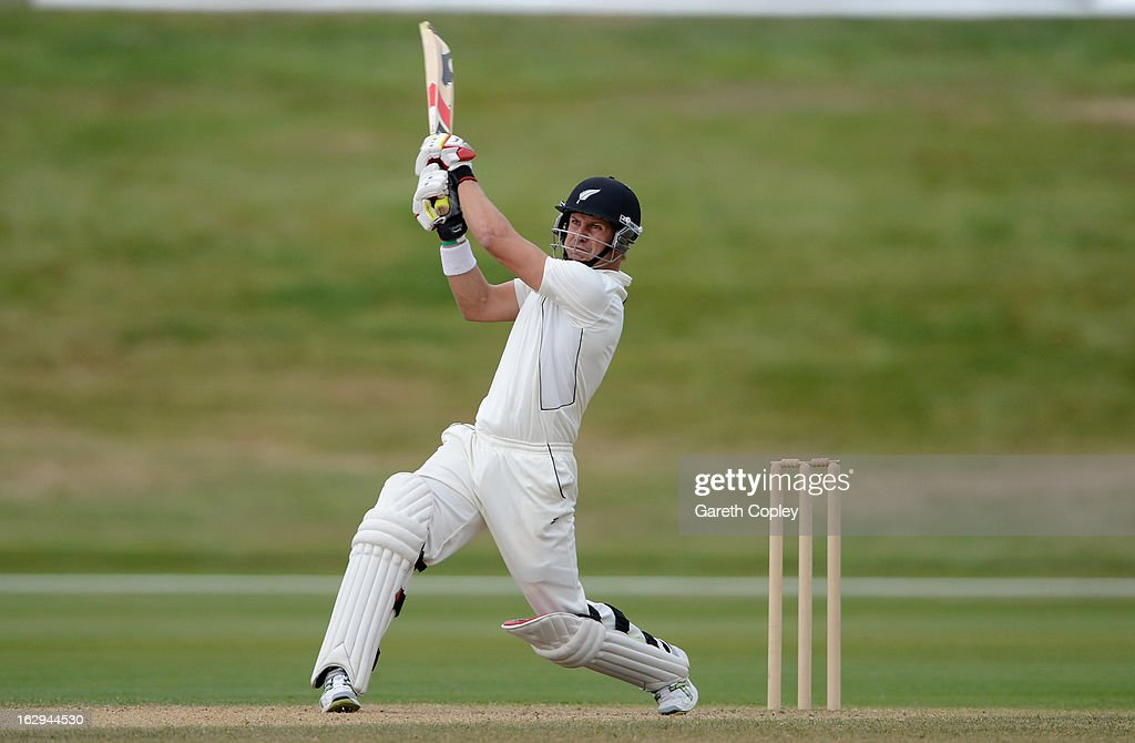 Neil Wagner of a New Zealand XI bats during day four of the International Tour Match between the New Zealand XI and England at Queenstown Events Centre on March 2, 2013 in Queenstown, New Zealand.