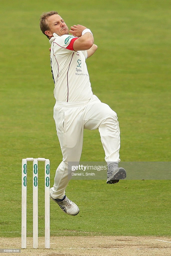 <a gi-track='captionPersonalityLinkClicked' href=/galleries/search?phrase=Neil+Wagner+-+Cricket+Player&family=editorial&specificpeople=12902899 ng-click='$event.stopPropagation()'>Neil Wagner</a> of Lancashire bowls during day three of the Specsavers County Championship: Division One match between Yorkshire and Lancashire at Headingley on May 31, 2016 in Leeds, England.