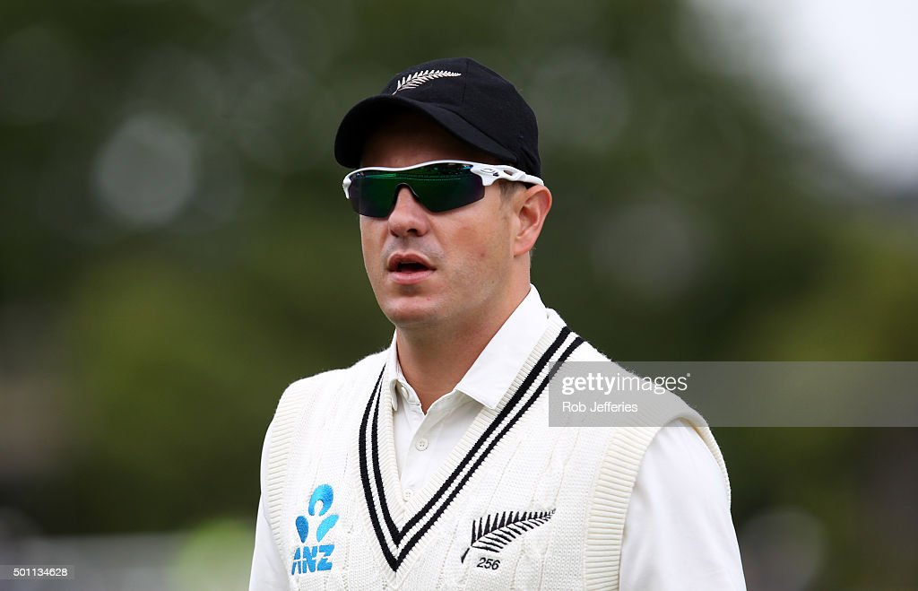 Neil Wagner of New Zealand during day four of the First Test match between New Zealand and Sri Lanka at University Oval on December 13, 2015 in Dunedin, New Zealand.