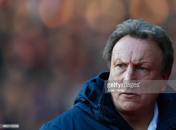 Neil Warnock manager of Crystal Palace looks on during the Barclays Premier League match between Crystal Palace and Stoke City at Selhurst Park on...