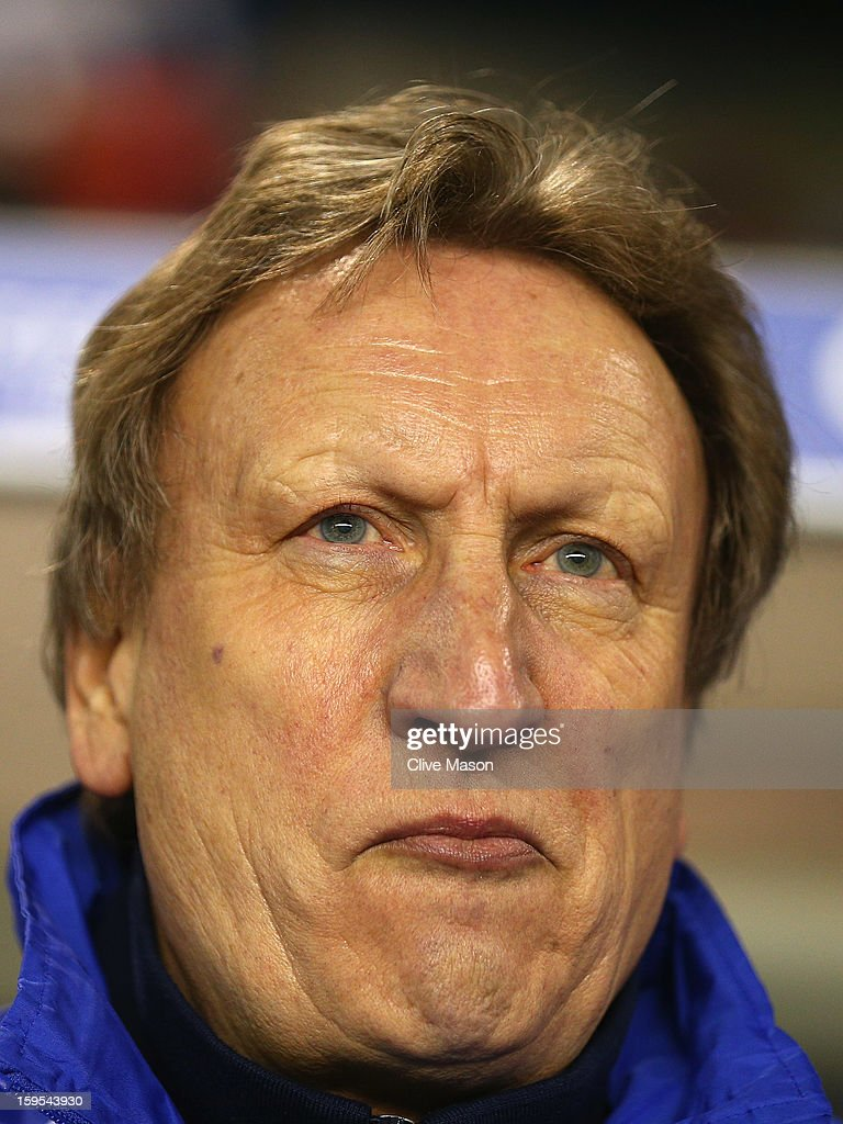 <a gi-track='captionPersonalityLinkClicked' href=/galleries/search?phrase=Neil+Warnock&family=editorial&specificpeople=644786 ng-click='$event.stopPropagation()'>Neil Warnock</a> of Leeds United is seen during the FA Cup with Budweiser Third Round Replay match between Birmingham City and Leeds United at St Andrews on January 15, 2013 in Birmingham, England.
