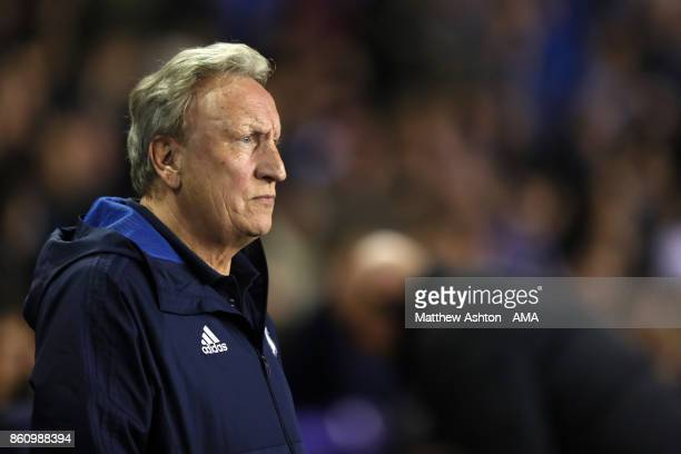 Neil Warnock the head coach / manager of Cardiff City during the Sky Bet Championship match between Birmingham City and Cardiff City at St Andrews on...