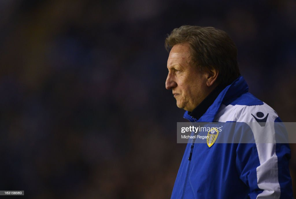 <a gi-track='captionPersonalityLinkClicked' href=/galleries/search?phrase=Neil+Warnock&family=editorial&specificpeople=644786 ng-click='$event.stopPropagation()'>Neil Warnock</a> the Leeds manager looks on from the sidelines during the npower Championship match between Leicester City and Leeds United at The King Power Stadium on March 5, 2013 in Leicester, England.