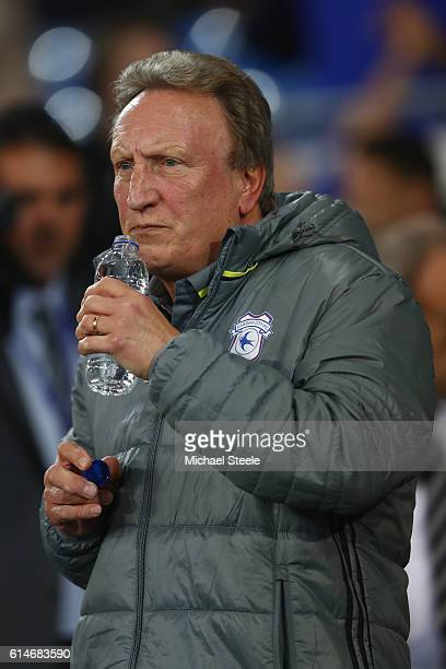 Neil Warnock the manager of Cardiff ahead of his first match in charge during the Sky Bet Championship match between Cardiff City and Bristol City at...