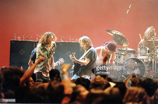 Neil Young and Eddie Vedder of Pearl Jam