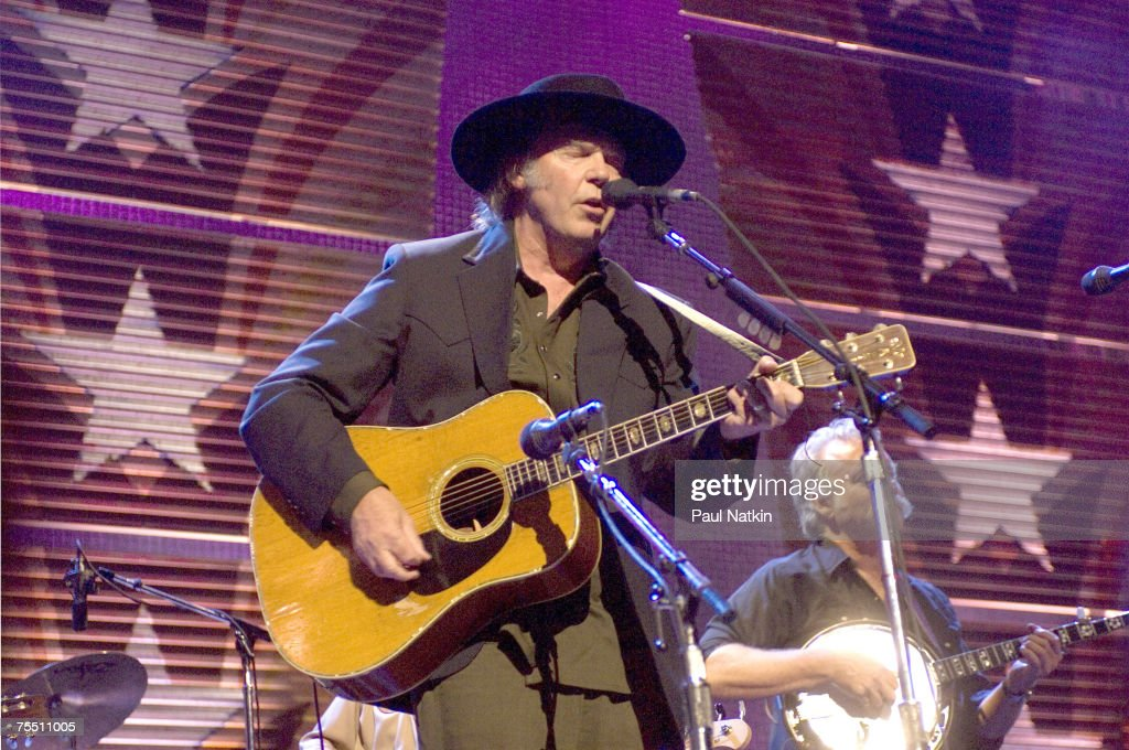 Neil Young at the Tweeter Center in Chicago, Illinois