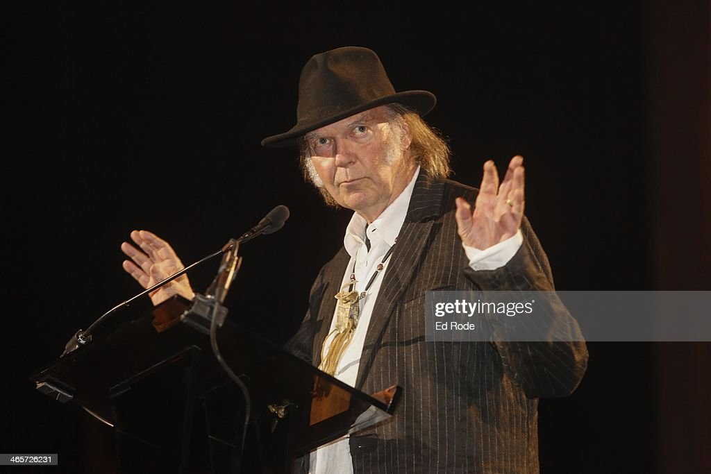 Neil Young attends the 2014 Musicians Hall of Fame Induction Ceremony at Nashville Municipal Auditorium on January 28, 2014 in Nashville, Tennessee.
