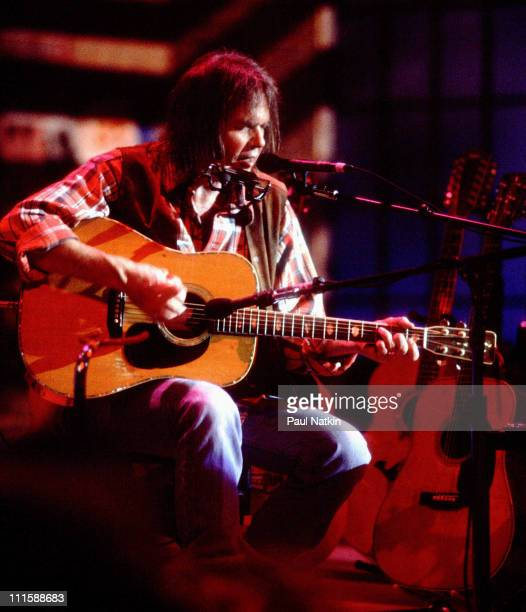 Neil Young during Neil Young in Concert November 1 1992 in Chicago Illinois United States
