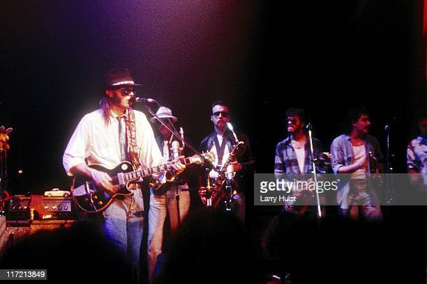 Neil Young performing at Club Omni in Oakland California on November 11 1987