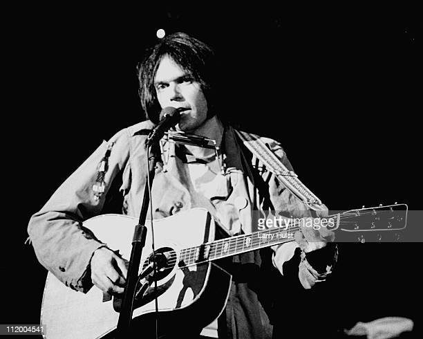 Neil Young performing at Winterland Arena in San Francisco California on November 25 1976