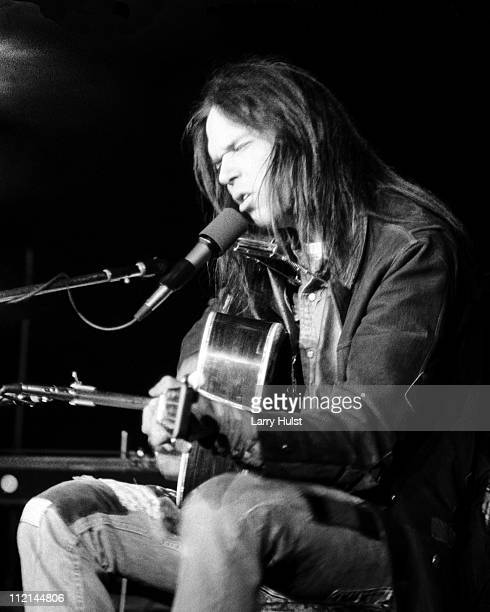 Neil Young performs at Winterland arena in San Francisco California on March 21 1977