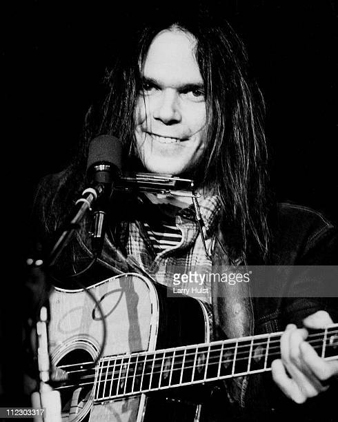 Neil Young performs at Winterland arena in San Francisco California on March 21 1973