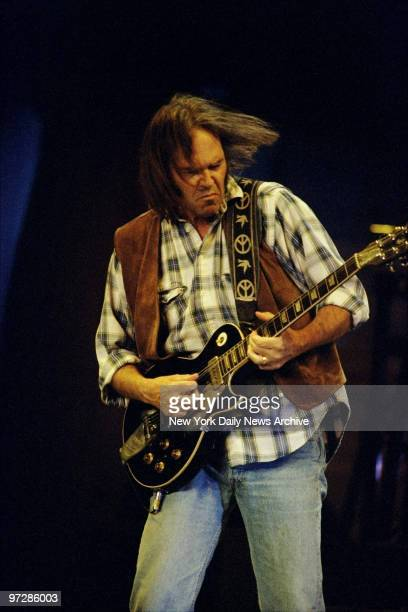 Neil Young performs in concert at Madison Square Garden
