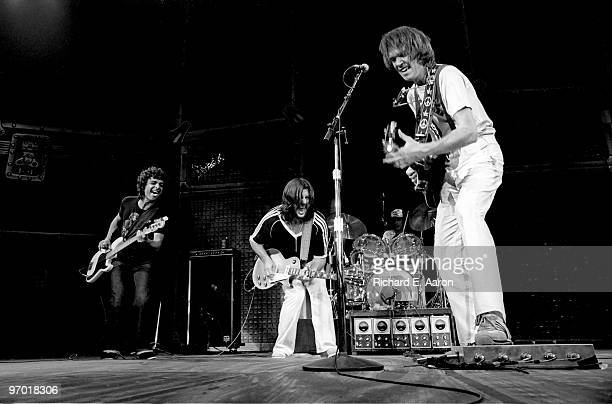 Neil Young performs live on stage with Crazy Horse at Madison Square Garden New York on September 27 1978 during his One Stop World Tour LR Billy...