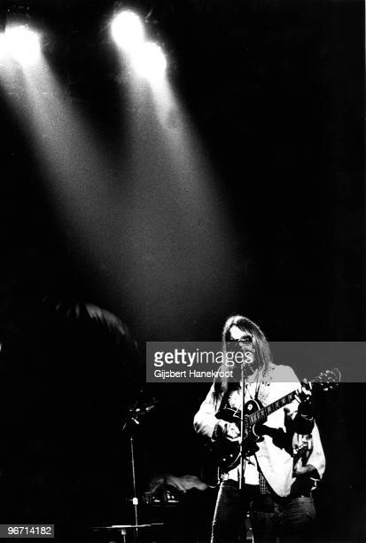 Neil Young performs live on stage with the Santa Monica Flyers at The Rainbow Theatre in London on November 05 1973 during the Tonight's The Night...