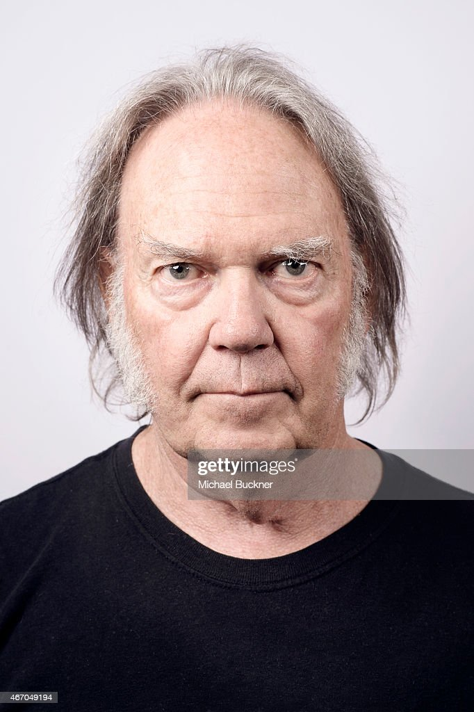 Neil Young poses for a portrait for the film 'Human Highway' during ...