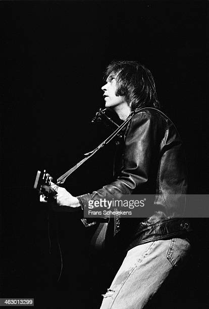 Neil Young vocalguitar performs at the Muziektheater in Amsterdam the Netherlands on 10th December 1989