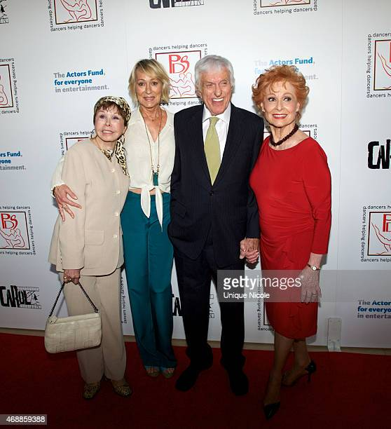 Neile Adams Sandahl Bergman Dick Van Dyke and Carol Lawrence attend at The Beverly Hilton Hotel on March 29 2015 in Beverly Hills California