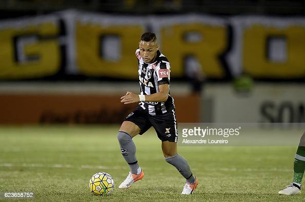 Neiltonof Botafogo in action during the match between Botafogo and Chapecoense as part of Brasileirao Series A 2016 at Luso Brasileiro stadium on...