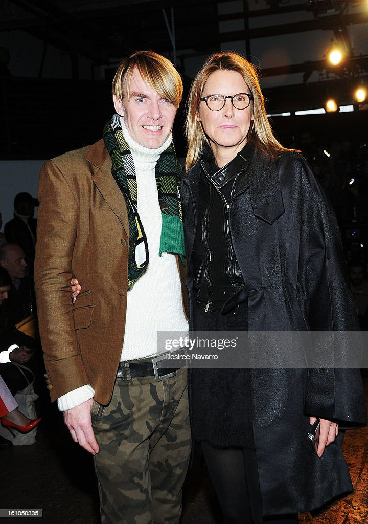 Neiman Marcus fashion director Ken Downing and fashion stylist Sarah Gore Reeves attend Yigal Azrouel during Fall 2013 Mercedes-Benz Fashion Week at Highline Stages on February 8, 2013 in New York City.