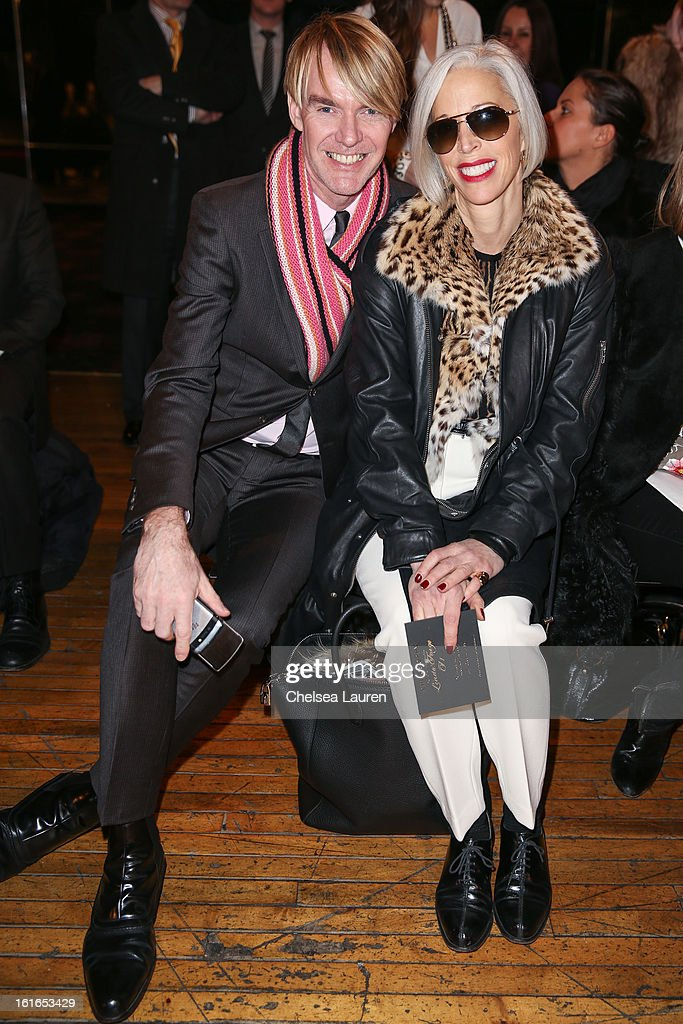Neiman Marcus fashion director Ken Downing (L) and Senior Vice President, Fashion Office and Store Presentation of Bergdorf Goodman Linda Fargo attend the Philosophy By Natalie Ratabesi fall 2013 fashion show during Mercedes-Benz Fashion Week at Roseland Ballroom on February 13, 2013 in New York City.