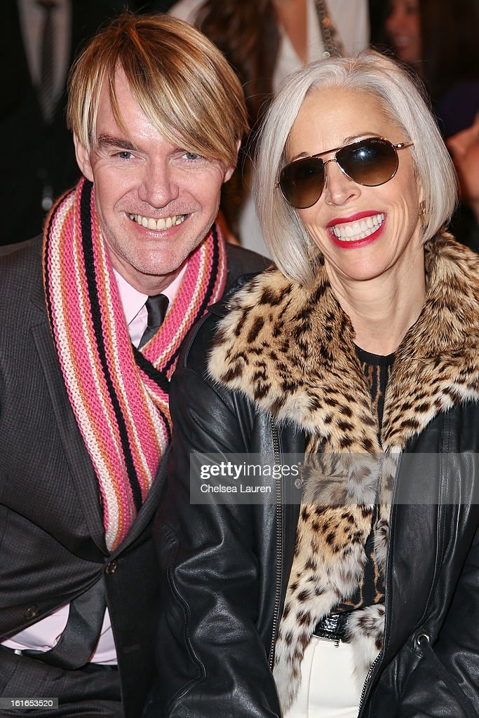 Neiman Marcus fashion director Ken Downing (L) and Senior Vice President, Fashion Office and Store Presentation of Bergdorf Goodman <a gi-track='captionPersonalityLinkClicked' href=/galleries/search?phrase=Linda+Fargo&family=editorial&specificpeople=592060 ng-click='$event.stopPropagation()'>Linda Fargo</a> attend the Philosophy By Natalie Ratabesi fall 2013 fashion show during Mercedes-Benz Fashion Week at Roseland Ballroom on February 13, 2013 in New York City.