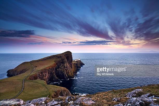 Neist Point at sunset, Isle of Skye