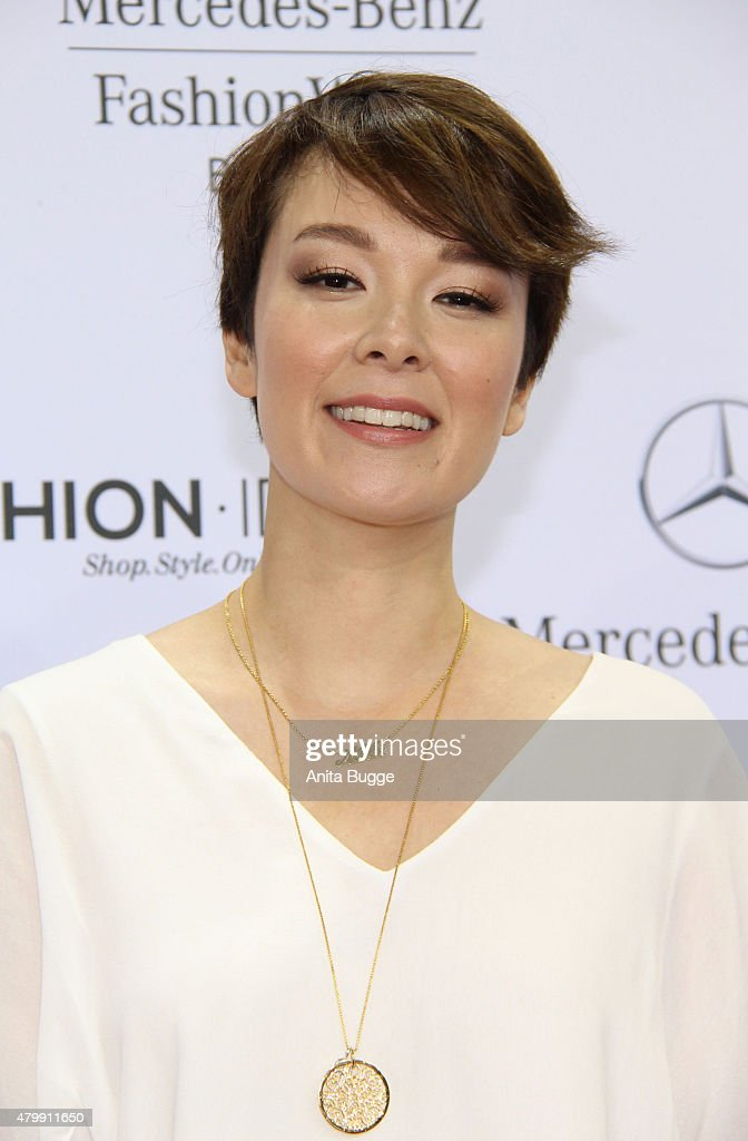 Nela Leel attends the Minx by Eva Lutz show during the Mercedes-Benz Fashion Week Berlin Spring/Summer 2016 at Brandenburg Gate on July 8, 2015 in Berlin, Germany.