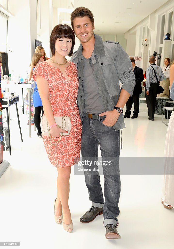 Nela Panghy-Lee and Thore Schoelermann attend the Gala Fashion Brunch at Ellington Hotel on July 5, 2013 in Berlin, Germany.