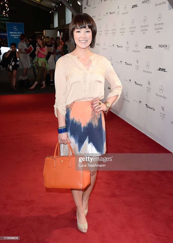 Nela Panghy-Lee attends the Glaw Show during Mercedes-Benz Fashion Week Spring/Summer 2014 at Brandenburg Gate on July 5, 2013 in Berlin, Germany.